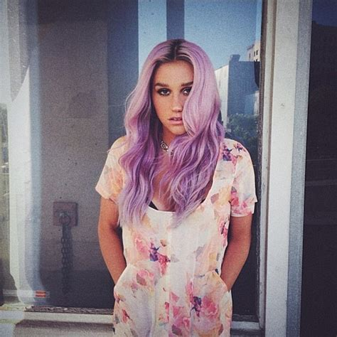 purple celbrity hair kesha shows off bright green hair in dramatic makeover