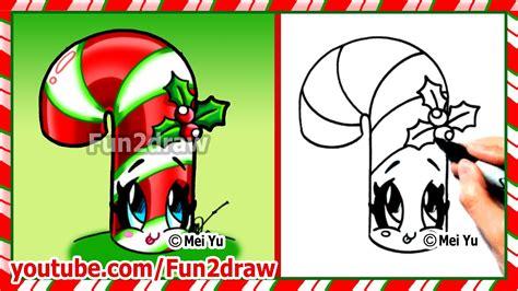 draw christmas stuff  cute candy cane
