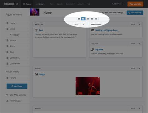 update layout c bandzoogle 2 0 update new content layouts added