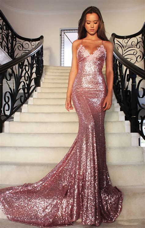 sparkling gold sequin mermaid evening formal prom dress 2017 lunss couture