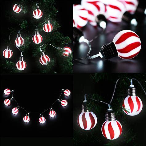 Decorative String Lights For Bedroom red and white 10 led globe 1 2m fairy string lights