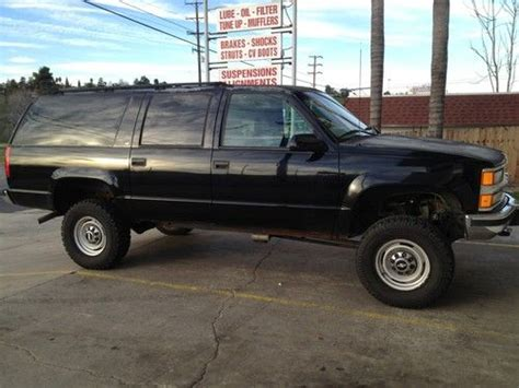 how does cars work 1998 chevrolet suburban 2500 lane departure warning buy used 1998 chevy chevrolet suburban lt 2500 4x4 4wd new tires procomp 2k lift k2500 in
