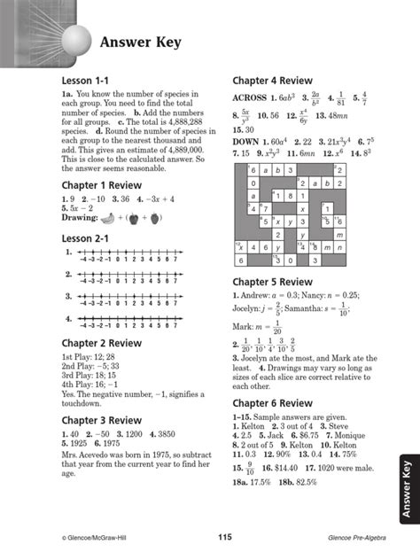 Glencoe Mcgraw Hill Algebra 1 Answers Worksheets Free