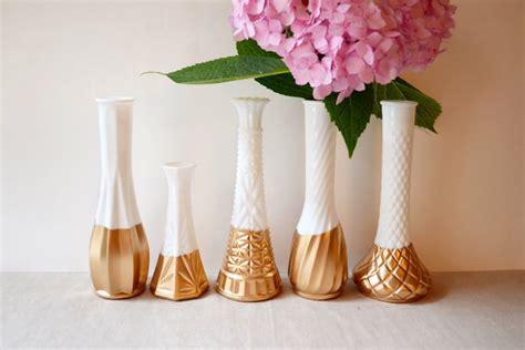 Single Flower Vase Centerpiece by Milk Glass For Weddings