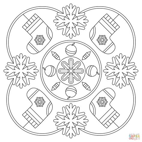 mandala coloring pages winter winter mandala coloring page free printable coloring pages