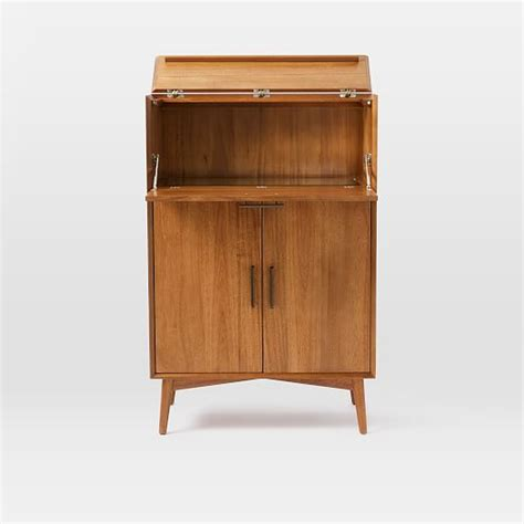 mid century bar cabinet large west elm