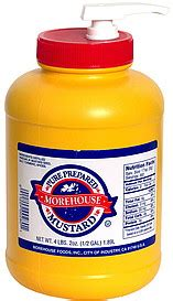 morehouse pure prepared mustard 0 5 gal nutrition