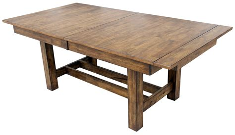 trestle table with leaves trestle table with 3 butterfly storage leaves by aamerica