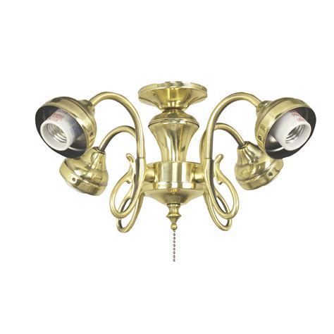 brass ceiling fan light kit shop harbor 4 light burnished brass ceiling fan
