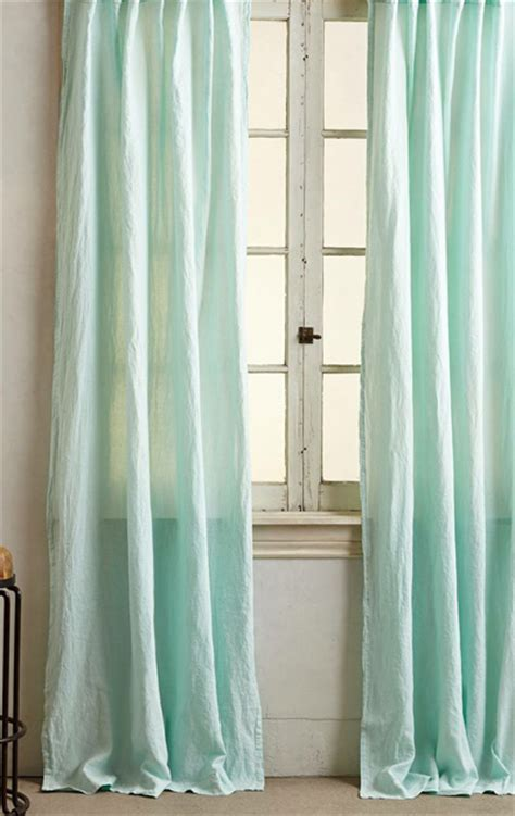 Turquoise Linen Curtains Linen Balsas Curtain Everything Turquoise