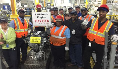 Toyota Manufacturing Huntsville Al Study Toyota Engine Plant Supports 9 700 Alabama