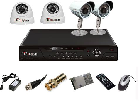 tentronix ahd dvr system 4 channel home security
