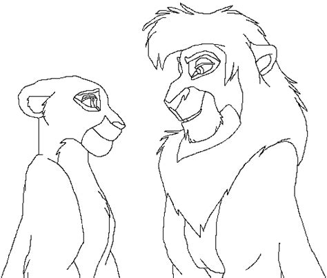 lion king coloring pages kovu kovu and baby kiara free coloring pages
