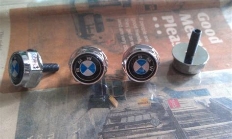 bmw license plate bolts find for bmw car logo emblem style metal license plate