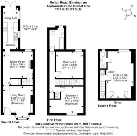 terraced house floor plan 3 bedroom terraced house for sale in 62 melton road kings