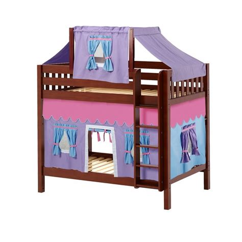 bunk bed tents and curtains maxtrixkids alto27 cs high bunk bed with straight