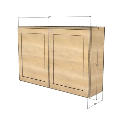 free kitchen cabinet plans ana white build a 45 quot wall kitchen cabinet free and