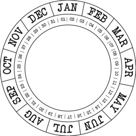 circular calendar template 52 best images about circular calendars on
