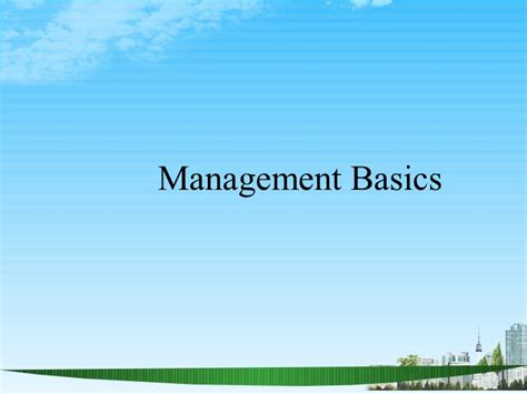 Mba Ppt On Satisfaction by Management Basics Ppt Bec Doms Mba Hr