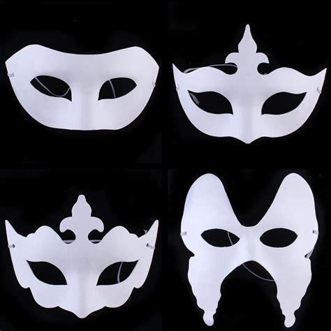 Paper Mask - cheap diy painting white paper masks venetian