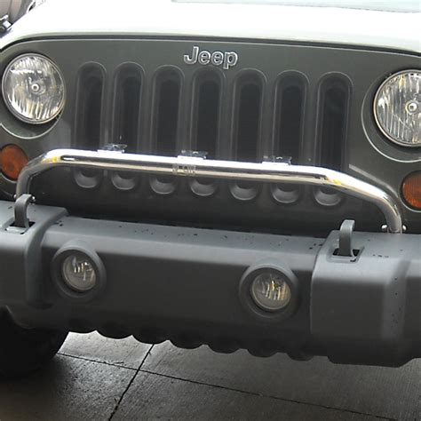 Jeep Bumper Light Bar Light Bar Bumper Mounted Polished Stainless Steel Rugged