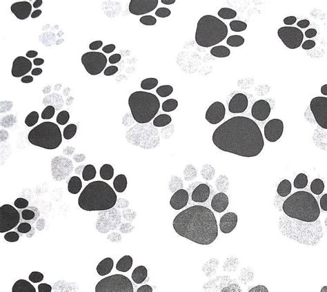 printable cat wrapping paper paw print on white tissue paper 309 gift wrap dog