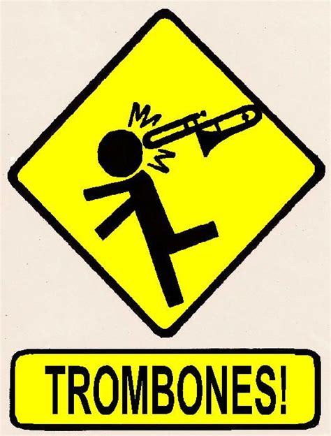 Kaos Marching Band Danger Trompet hahahaha i swear they should this as a warning sign