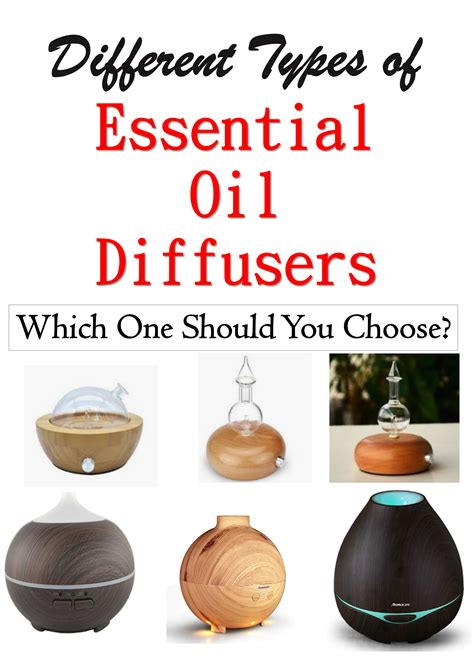 types  essential oil diffusers