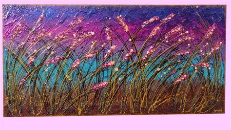 dipinti di fiori astratti fiori sfumati al vento vendita quadri quadri