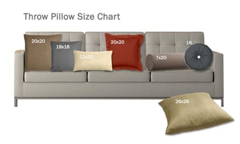 standard sofa pillow size size matters what you need to about pillows
