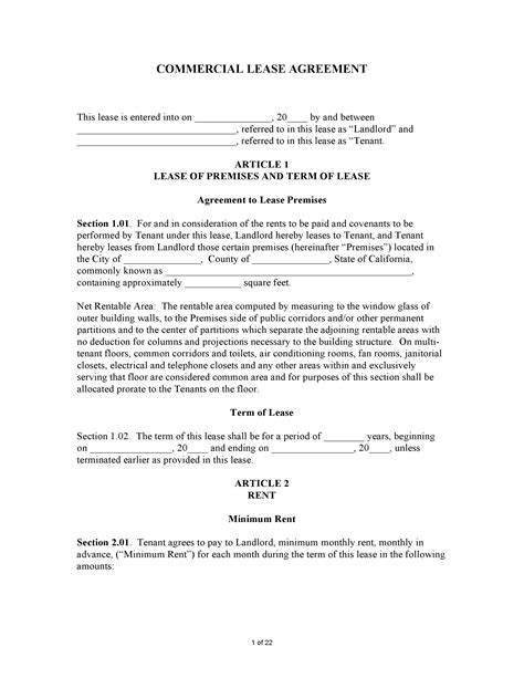 california civil code section 1950 5 free california commercial lease agreement pdf word