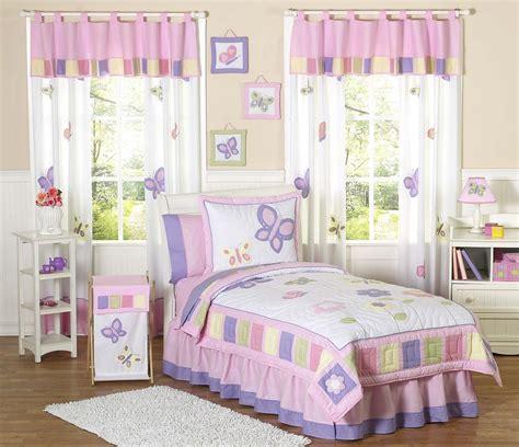 kids butterfly bedding pink purple lavender twin fullqueen comforter sets girls bed   bag
