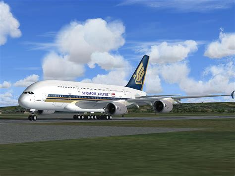 Air Singapore singapore airlines airbus a380 for fsx
