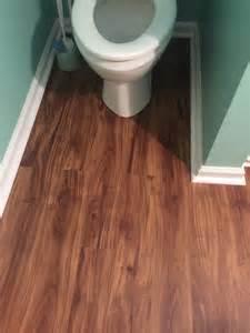 Vinyl Plank Flooring In Bathroom See Our Work Cheap Charlies Flooring