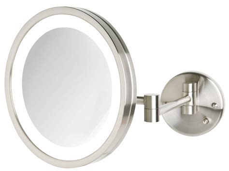 wall mounted lighted makeup mirror jerdon 5x magnification led lighted wall mounted makeup