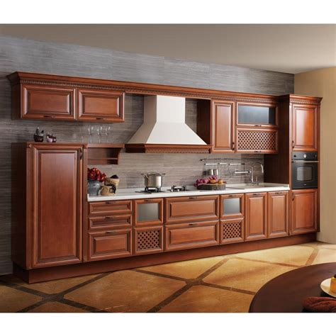 Solid Wood Kitchen Furniture China High End Alder Solid Wood Kitchen Cabinet Furniture
