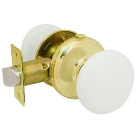 Ceramic Bathroom Door Knobs Gainsborough Genuine White Porcelain Polished Brass