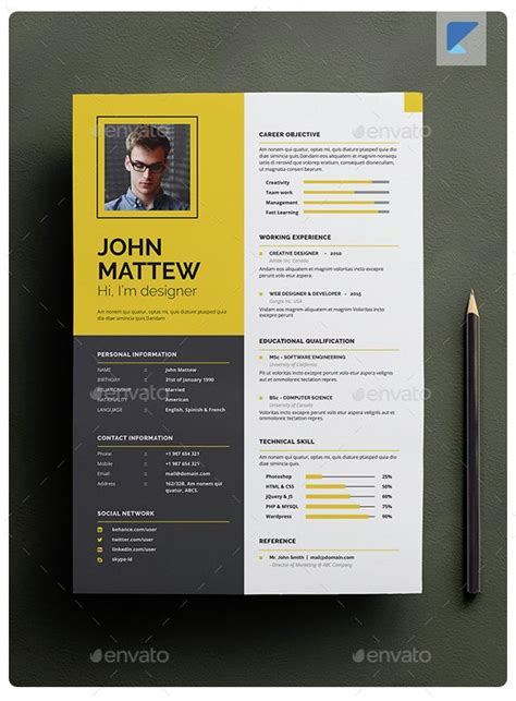 Creative Resumes Designs by Best 25 Cv Design Ideas On Cv Template