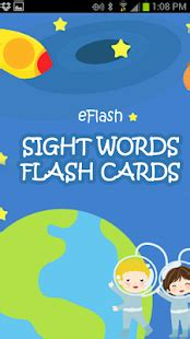 Sight And Sound Gift Card - sight words flash cards android apps on google play