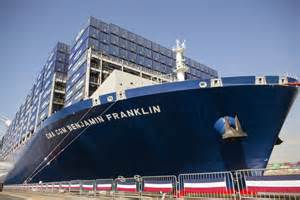 Largest Ship In The World benjamin franklin world s largest container ship