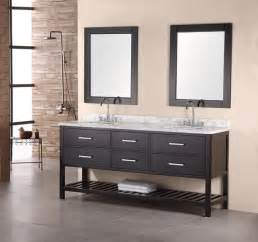 60 Inch Double Sink Vanity Granite Top Design Element Bathroom Vanities Contemporary Bathroom