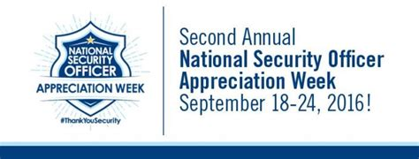 Officer Appreciation Day by Celebrating National Security Officer Appreciation Week