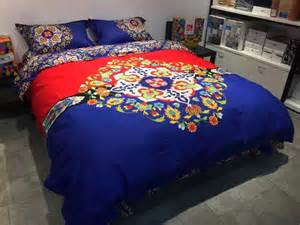 bohemia duvet cover set bedsheet pillow sham 4pcs royal