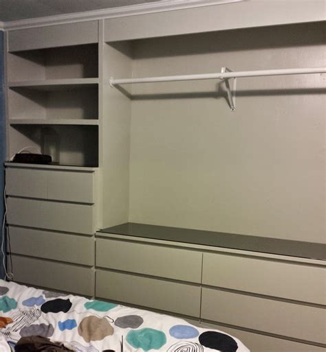 ikea hack built in wardrobe ikea hack built in wardrobe using malm dressers laundry