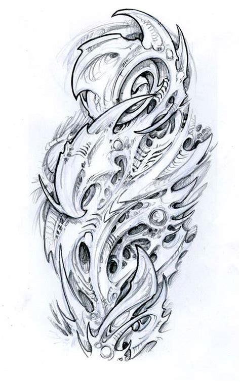 biomechanical tattoo flash designs guys on pinterest