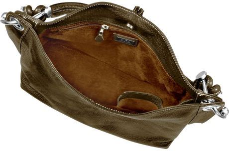 The Buti Charm Drop Bag by Buti Charm Drop Brown Pebble Italian Leather Hobo Bag