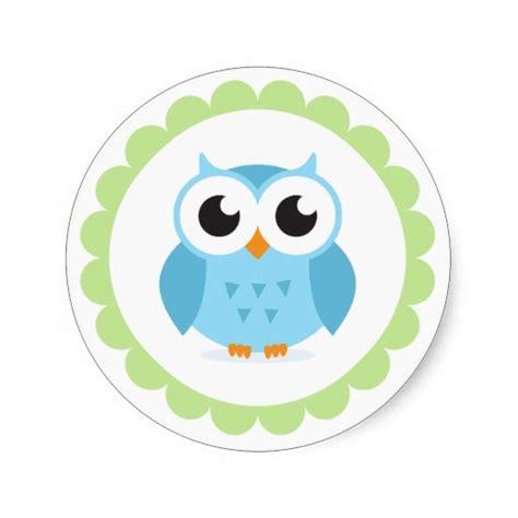 cute owl cartoon clipart best cute blue owl cartoon inside green border round stickers