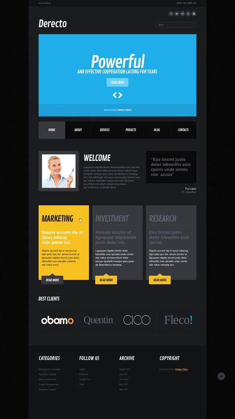 free responsive website templates for advertising agency marketing agency responsive website template 42796