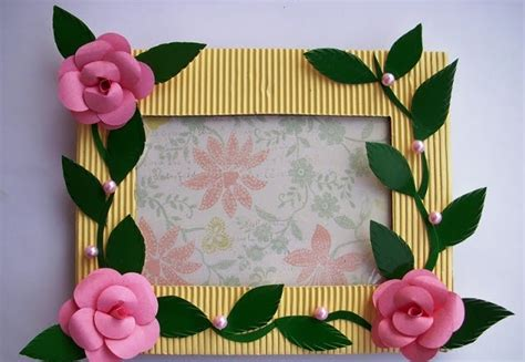 arts and crafts ideas handmade photo frame craft project projects ideas
