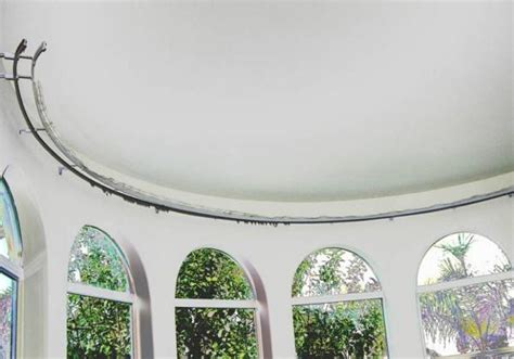 Bow Window Curtain Rod install bay window curtain rod single rod abda window